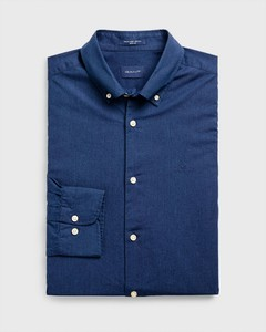 Gant Tech Prep Indigo Solid Button Down Donker Indigo
