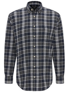 Fynch-Hatton Heavy Flannel Combi Check Navy