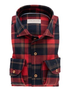 John Miller Flannel Big-Check Red