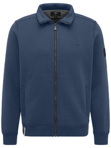Fynch-Hatton Cardigan Zip Sporty Sweat Denim Blue