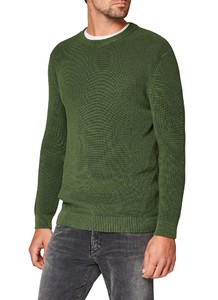 Maerz Cotton Uni Pullover Mixed Green