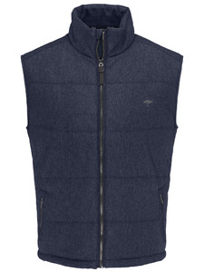 Fynch-Hatton City Vest Wool Look Navy