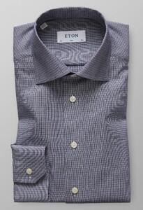 Eton Dobby Cotton-Tencel Dark Navy