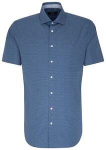 Seidensticker Tailored Short Sleeve Blauw
