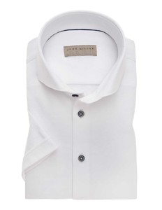 John Miller Short Sleeve Cutaway White