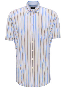 Fynch-Hatton Stripe Button Down Earth-Blue