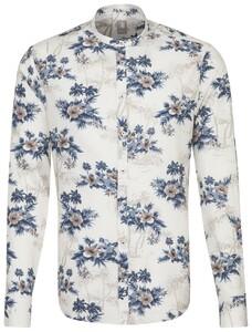 Jacques Britt Floral Contrast Donker Blauw Melange
