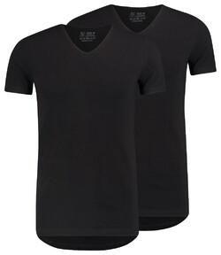 RJ Bodywear 2Pack Everyday Den Bosch V-Hals T-Shirt Black