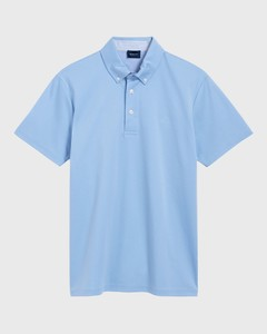 Gant Mercerized Cotton Polo Shirt Capri Blue