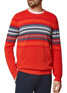 Maerz Cotton Stripe Round Neck Bloody Mary