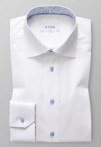 Eton Geometric Detail Uni Twill White