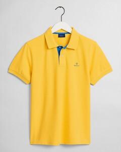 Gant Contrast Collar Pique Mimosa Yellow