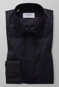 Eton Signature Jacquard Tuxedo Shirt Navy