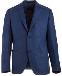 Roy Robson Shape Fit Linen Mix Royal Blue