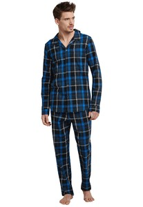 Schiesser Dark Wonder Pajamas Royal Blue