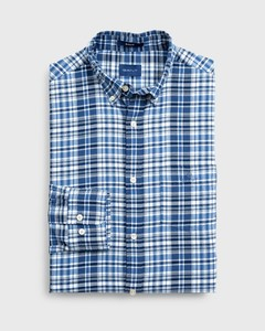 Gant Winter Twill Multi Check Vintage Blue