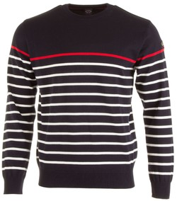 Paul & Shark Three-In-One Roundneck Stripe Pullover Navy