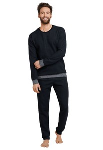 Schiesser Selected! Premium Pajamas Black