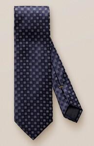 Eton Silver Contrast Floral Tie Dark Navy