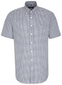 Seidensticker Multi Check Short Sleeve Navy
