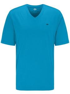Fynch-Hatton V-Neck T-Shirt Crystalblue