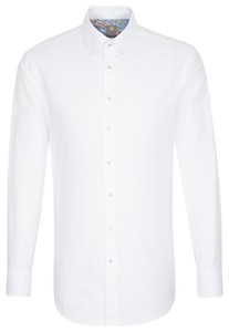 Jacques Britt Oxford Uni Hidden Button Down White