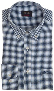Paul & Shark Geometric Pattern Shirt Blue