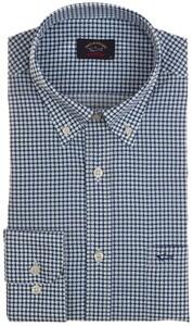 Paul & Shark Geometric Pattern Shirt Blauw
