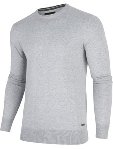 Cavallaro Napoli Tomasso R-Neck Pullover Midden Grijs