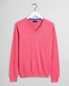 Gant Classic Cotton V-Neck Rapture Rose