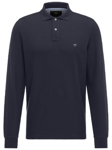 Fynch-Hatton Uni Polo Longsleeve Navy