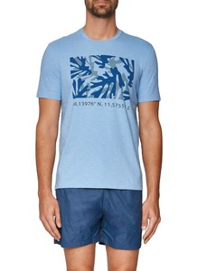 Maerz T-Shirt Round Neck Whispering Blue