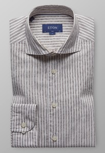 Eton Striped Extreme Cutaway Diep Bruin