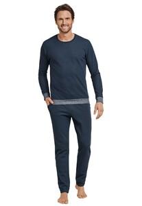 Schiesser Selected! Premium Pyjama Donker Blauw
