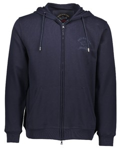 Paul & Shark Cotton Fleece Zip Hoodie Navy