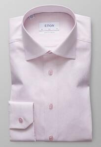 Eton Slim Twill Mouwlengte 7 Roze