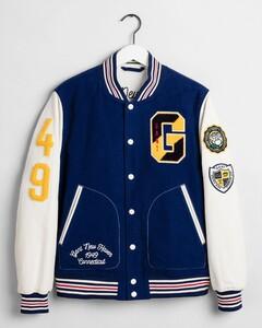 Gant The Gant Spring Varsity Jacket Deep Blue Melange