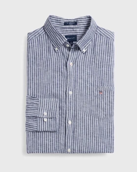 Gant Men/'s The Linen Shirt Persian Blue Gant Shirt