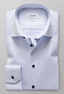 Eton Royal Oxford Uni Contrast Mouwlengte 7 Licht Blauw