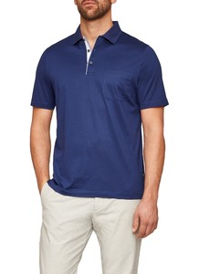Maerz Uni Polo Short Sleeve Blue Velvet