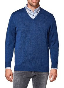 Maerz V-Neck Merino Superwash Dodger Blue