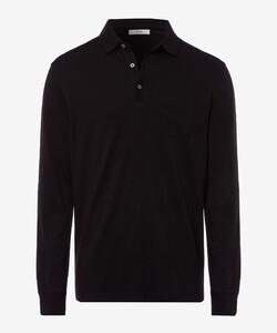 Brax Portland Polo Long Sleeve Zwart