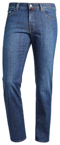 Pierre Cardin Deauville Jeans Tapered Used Washed Donker Blauw