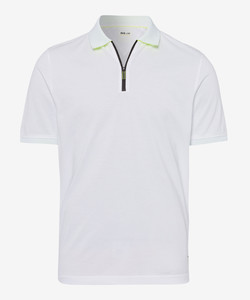 Brax Percy Zipper Polo White