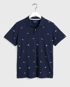 Gant Short Sleeve Pique Rugger Evening Blue