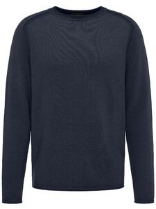 Fynch-Hatton Ronde Hals Fancy Garment Dyed Navy