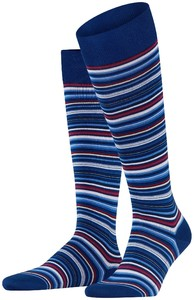 Falke Microblock Stripe Royal Blue