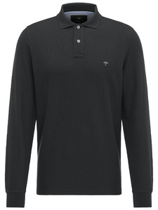 Fynch-Hatton Uni Polo Longsleeve Zwart