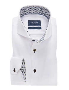 Ledûb Collar Contrasted Non-Iron Twill Wit