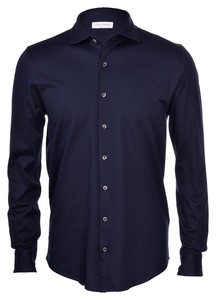 Gran Sasso Mercerized Cotton Uni Blue Navy